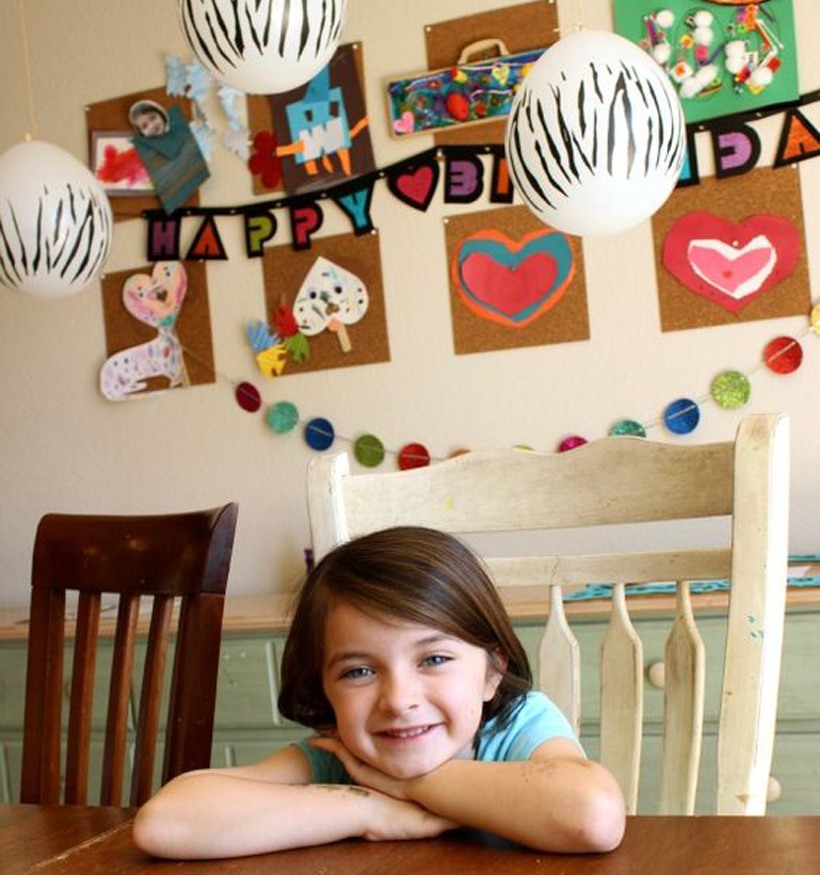 "Planning a One of a Kind At-Home Birthday Party for Kids *A Zebra-Fashion-Design (at-home) Birthday Party was a hit, for an imagination that didn't fit ""typical"" themes, on the Melissa & Doug Blog."