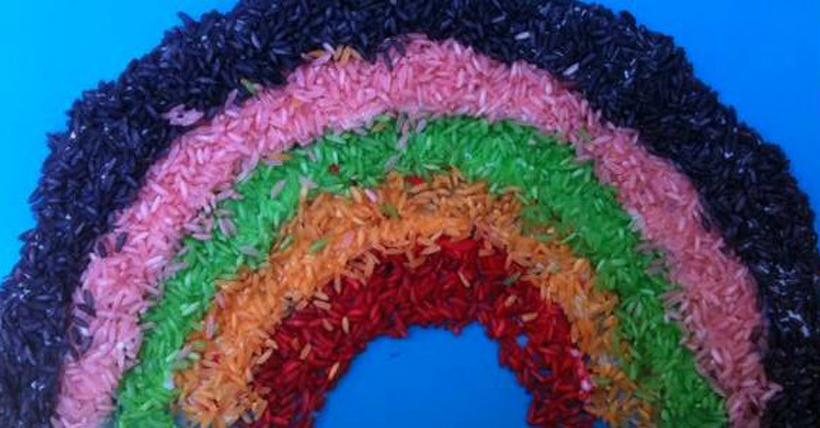 DIY Rice Rainbow