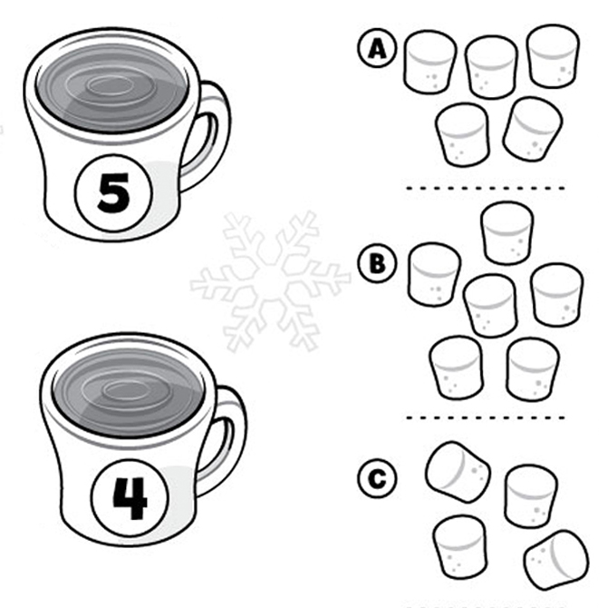 Hot Chocolate Printable & Counting Activity!