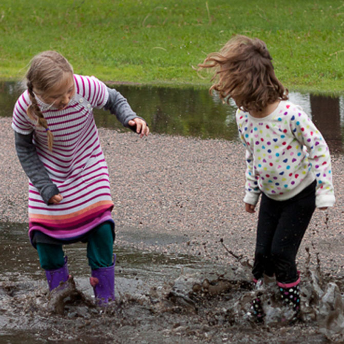 April Showers Bring … PUDDLE JUMPING