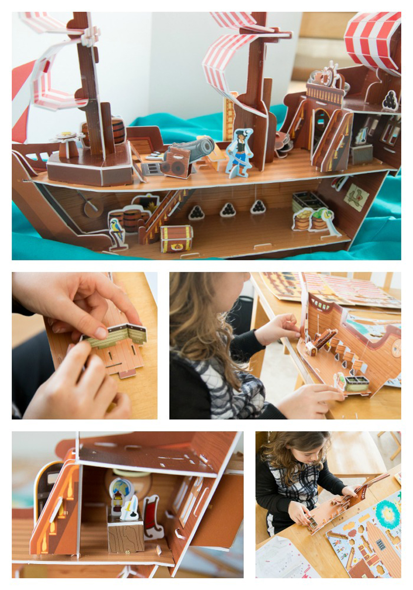 3D animation your kids can rock pirate ship puzzle