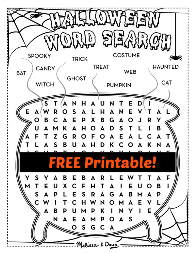 2 Printable Halloween Activity Pages for Kids | Melissa ...