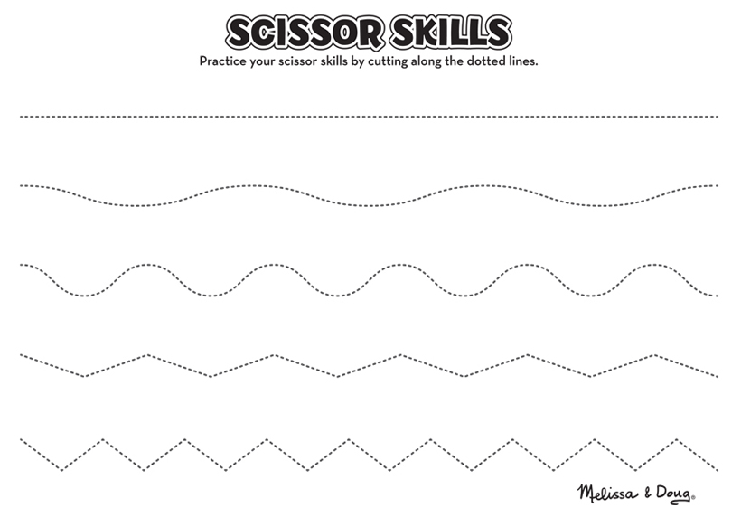 scissor skills printable page lines activity