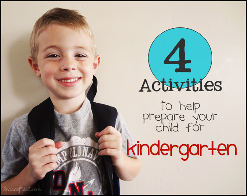 4 activities to prepare for kindergarten banner