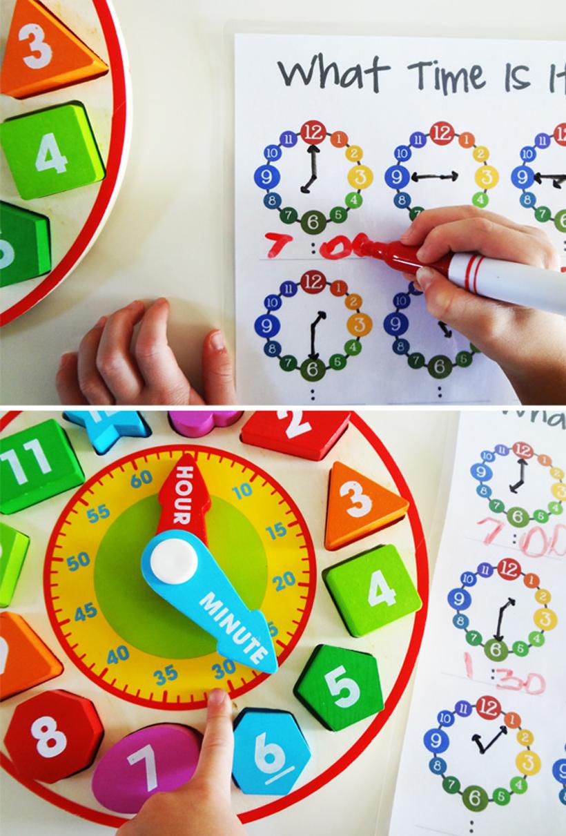 preparing for kindergarten telling time activities