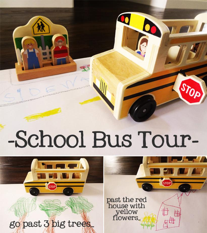 preparing for kindergarten taking a bus tour