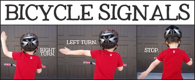 4 activities teaching summer safety bicycle hand signals