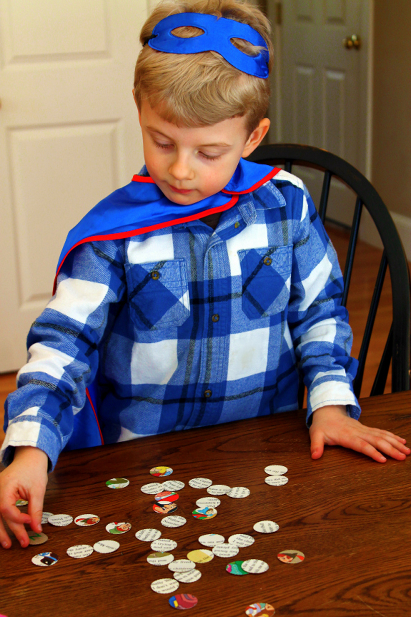 4 early literacy activities stamped memory game