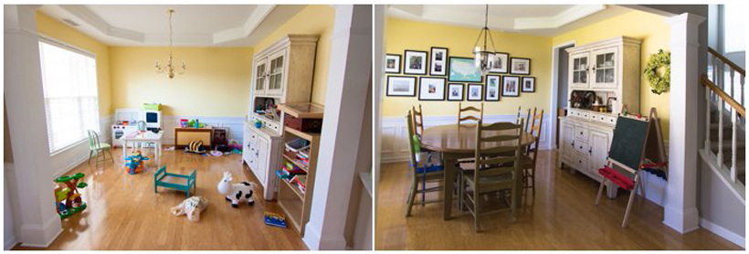 Organizing Play Spaces Dining Room Family Room
