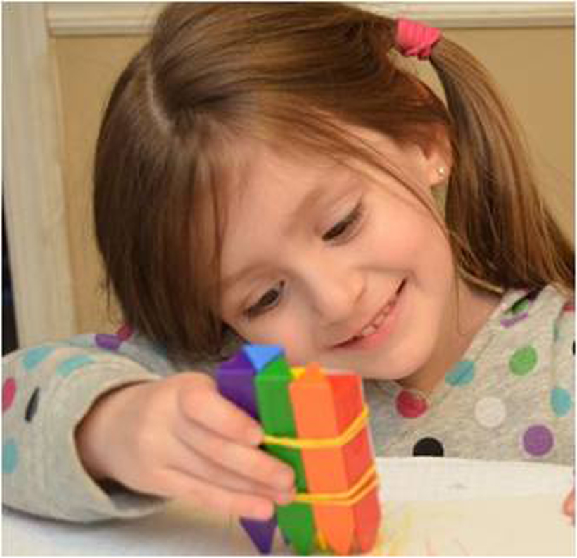 5 st. patrick's day crafts girl making rainbow pictures