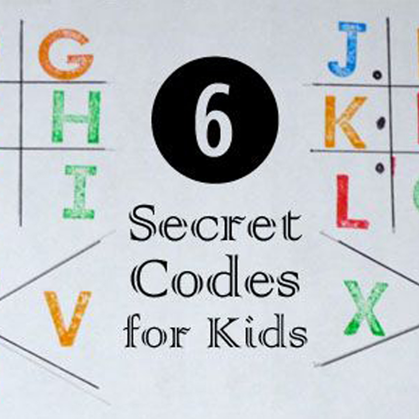 6 Secret Codes for Kids