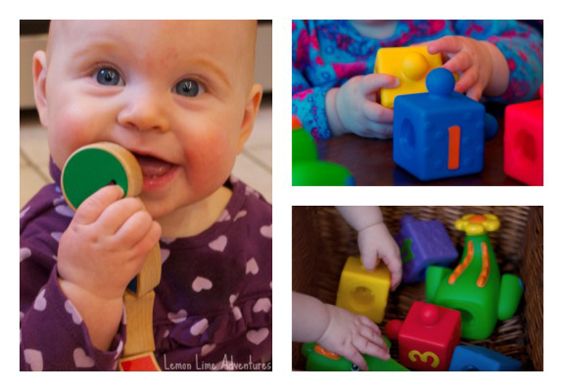 baby busy boxes collage