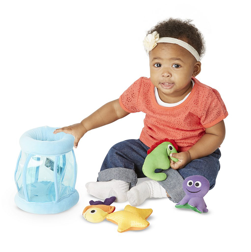 baby with puzzle toys