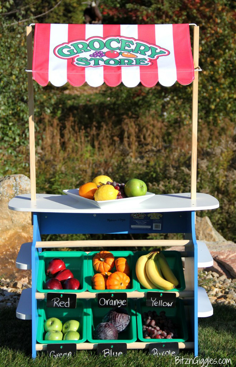 color inspired market lemonade/grocery stand