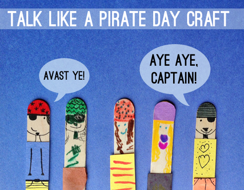 talk like a pirate day craft banner