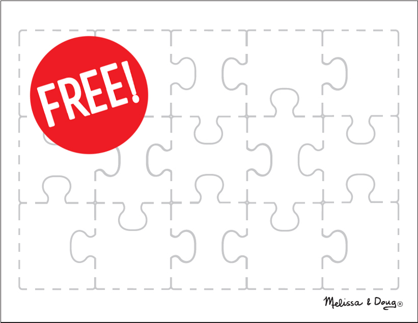 create your own puzzle free printable page