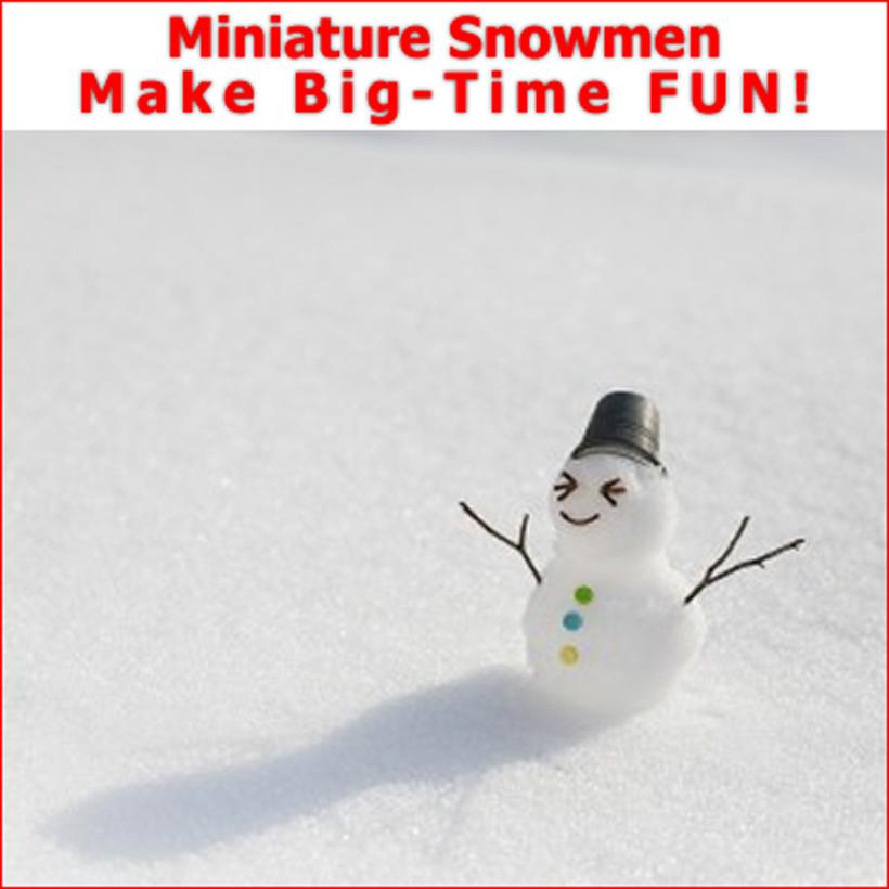 Mini Snowmen Big Time Fun