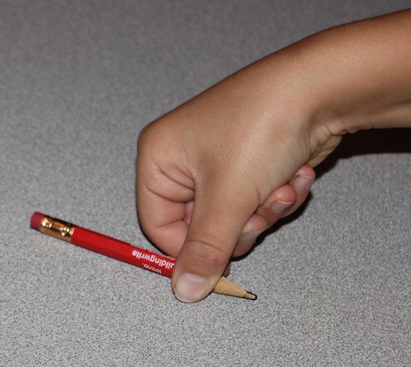 fine motor pencil grip picking up pencil