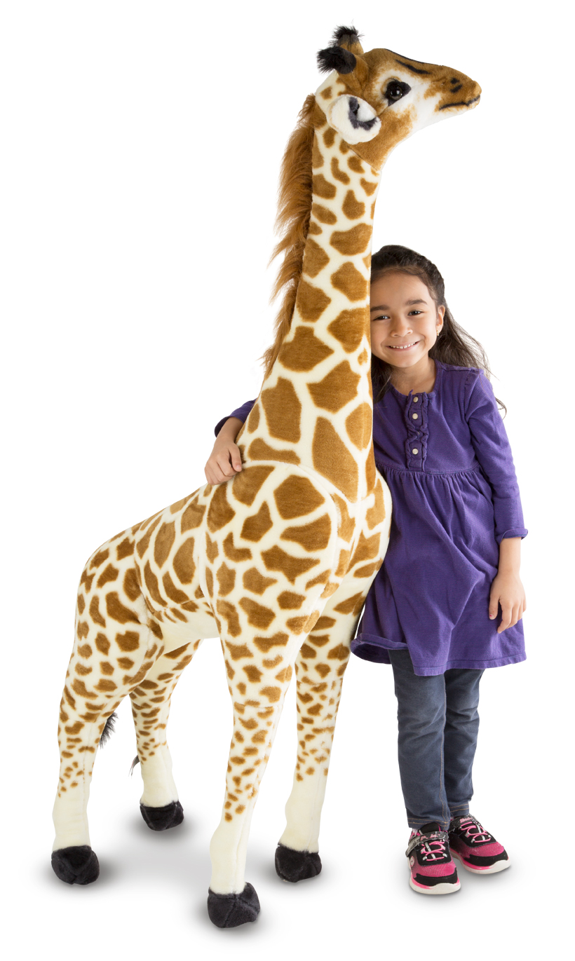 Giant Stuffed Animals Go On Safari Giraffe