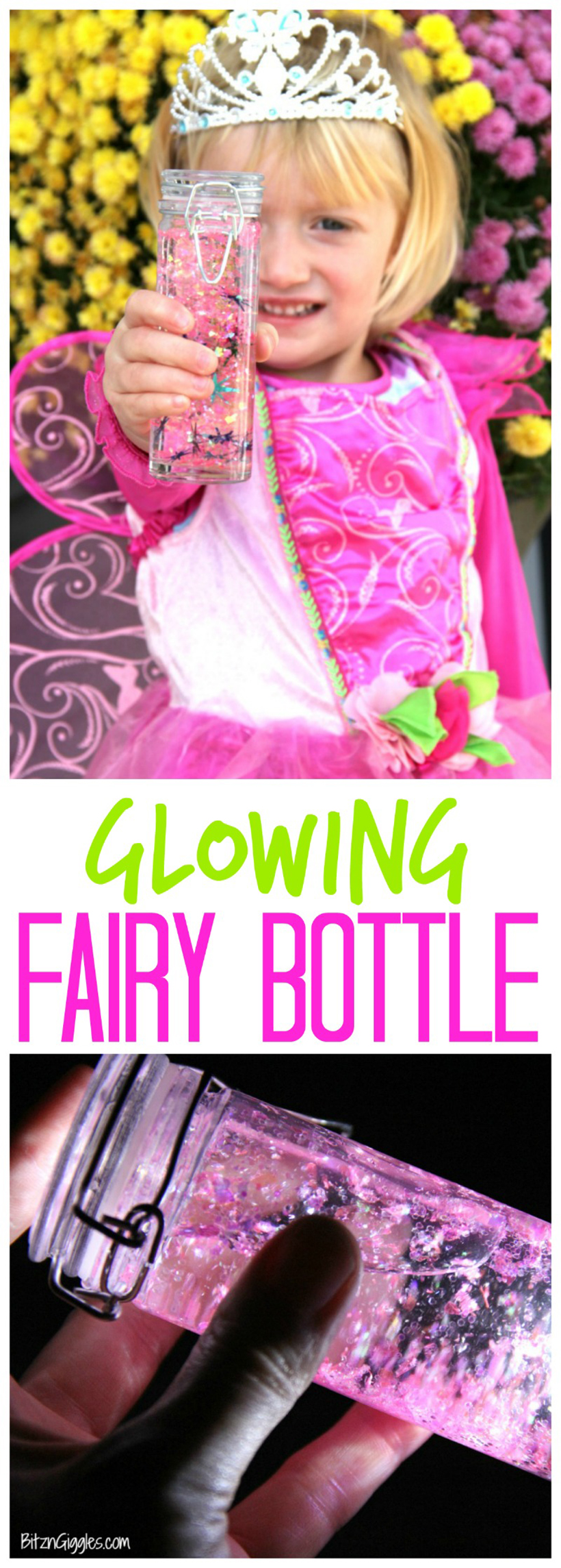 glowing fairy bottle pin