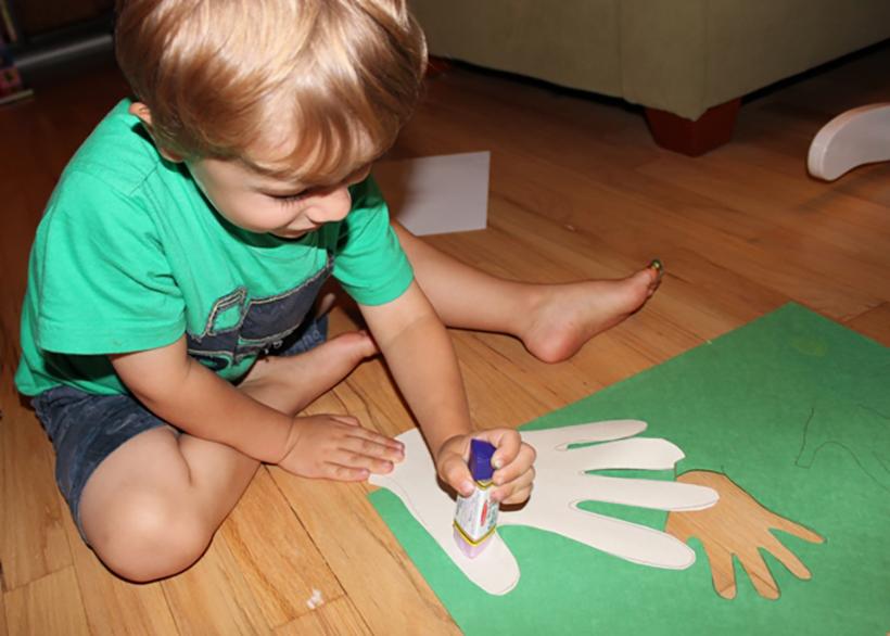 boy crafting