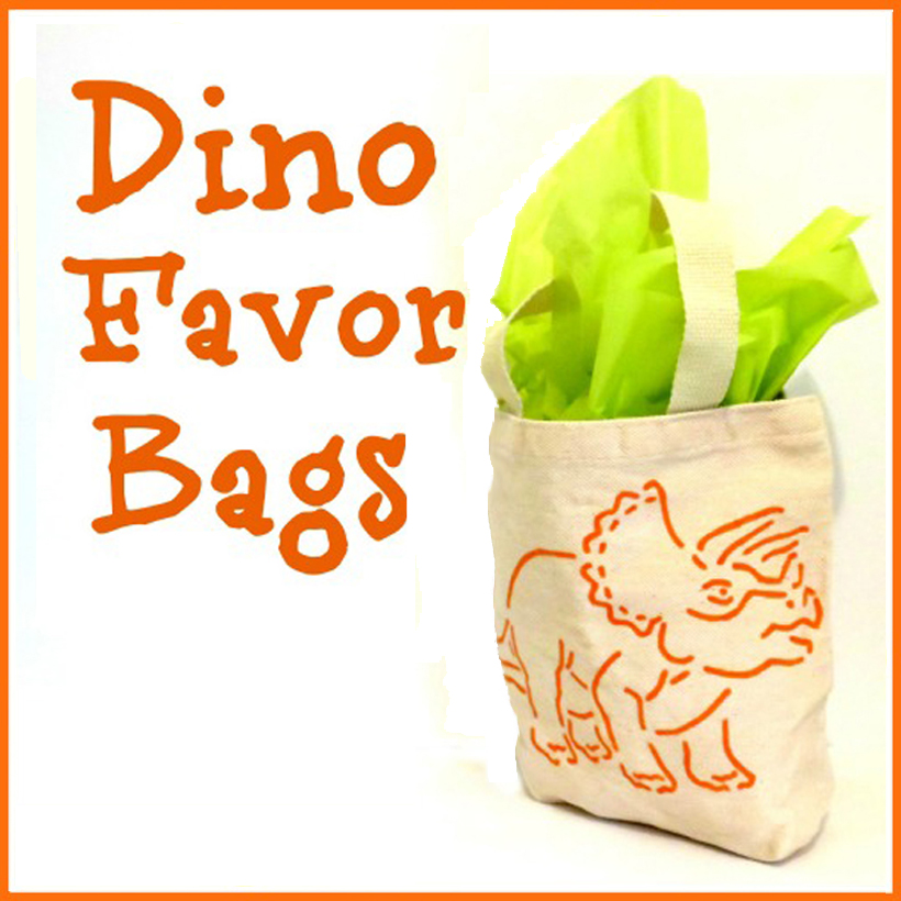 How to Throw a DIY Dinosaur Birthday Party: Part 2 – DIY Party Favor Bags