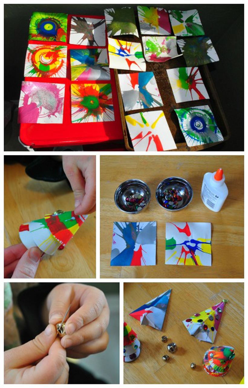 Spin Art Ornaments Craft Collage 2