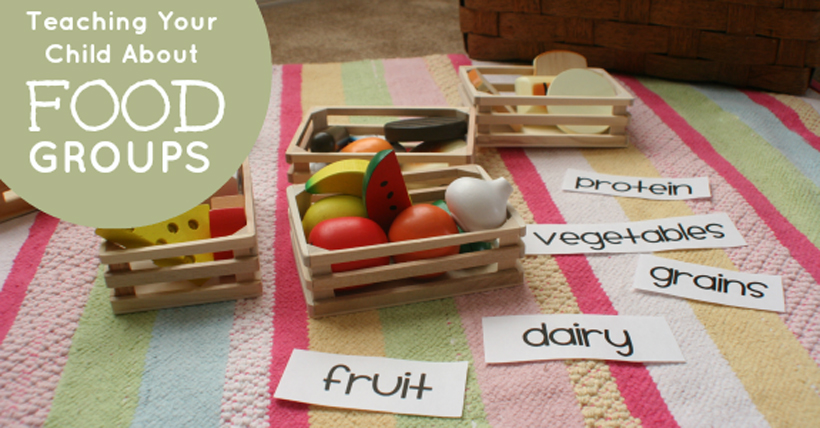 teach your child about food groups hero with text