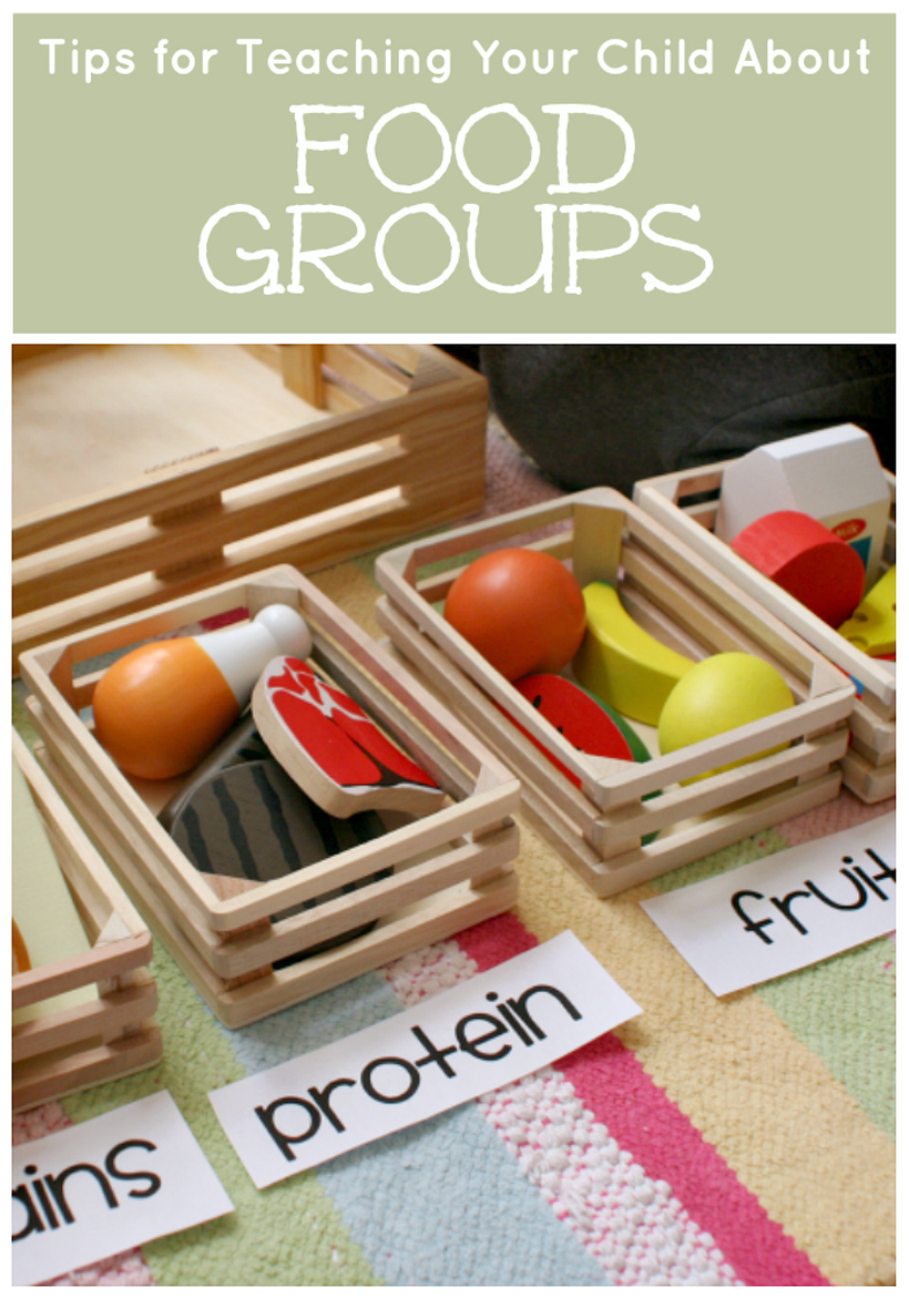 teach your child about food groups pin