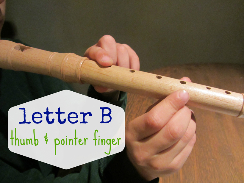 rockin' out on the recorder letter B