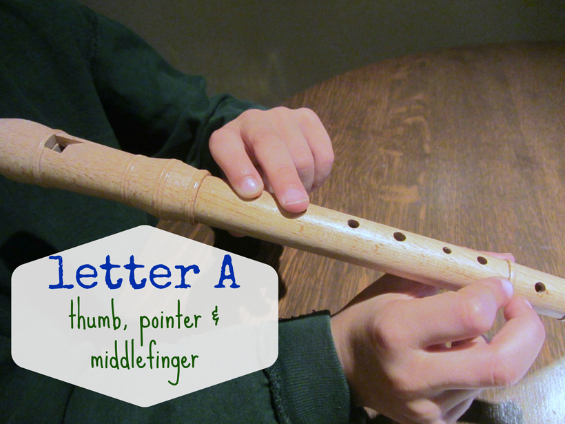 rockin' out on the recorder Letter A