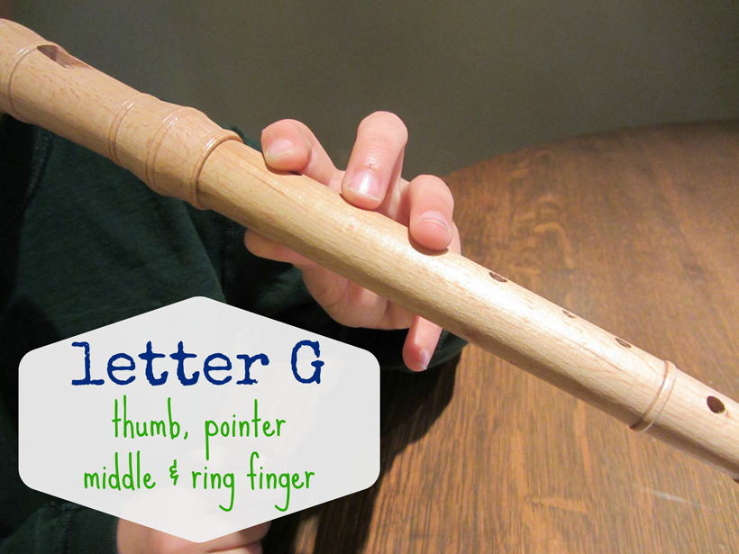 rockin' out on the recorder Letter G