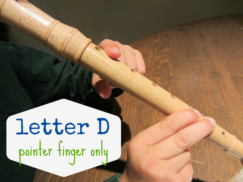 rockin' out on the recorder letter D