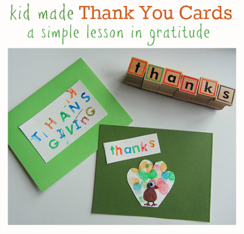 Thanksgiving Thank You Cards and Gratitude