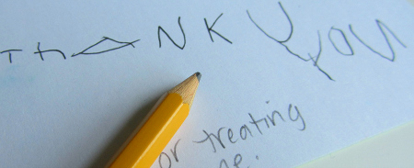 writing Thanksgiving Thank You Cards