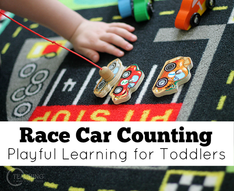 toddler race car counting title block