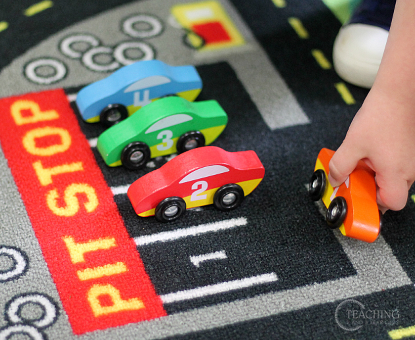 toddler race car counting parking car 1