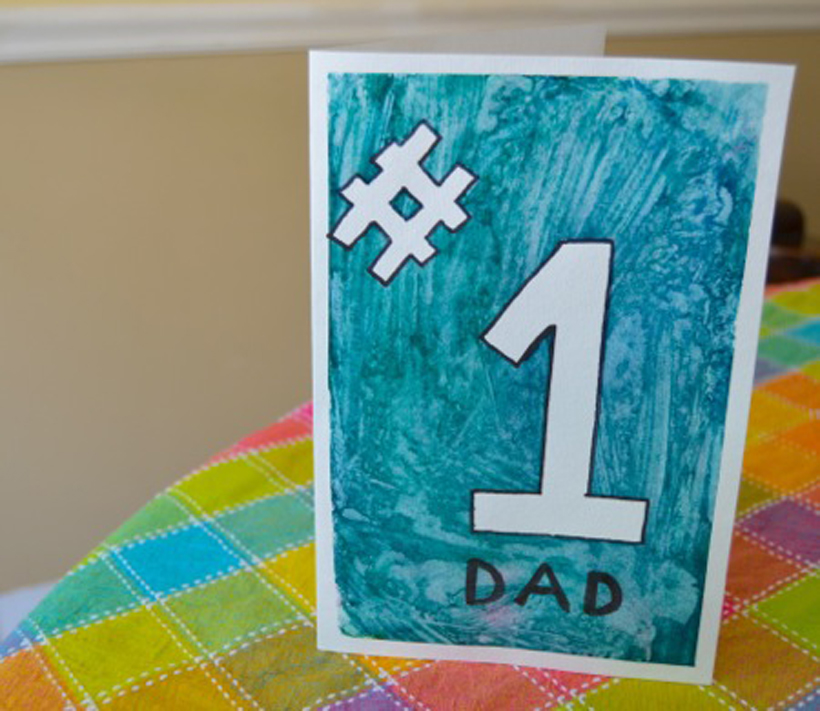 Painted Father's Day Card