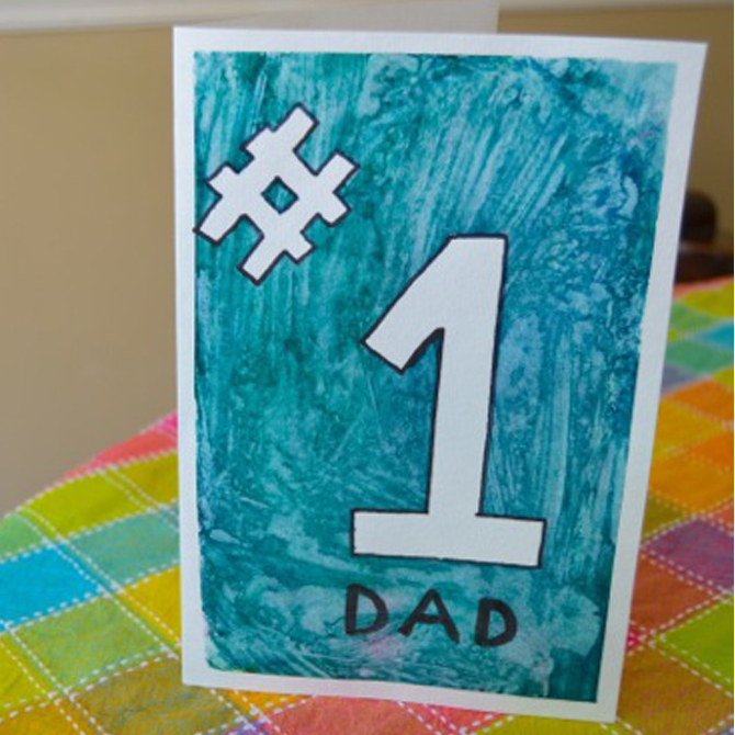 #1 Dad — An Easy Father's Day Card for Kids