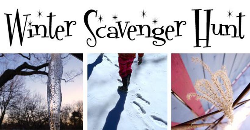 winter scavenger hunt title