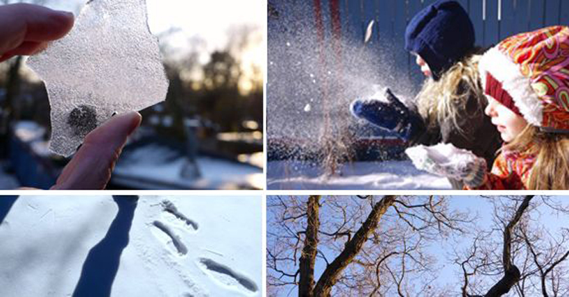 Winter Scavenger Hunt Collage