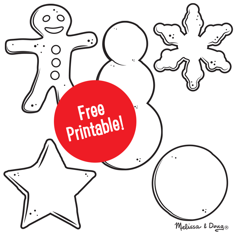 4 Oven-Free Holiday Cookie Projects (and Printable!)