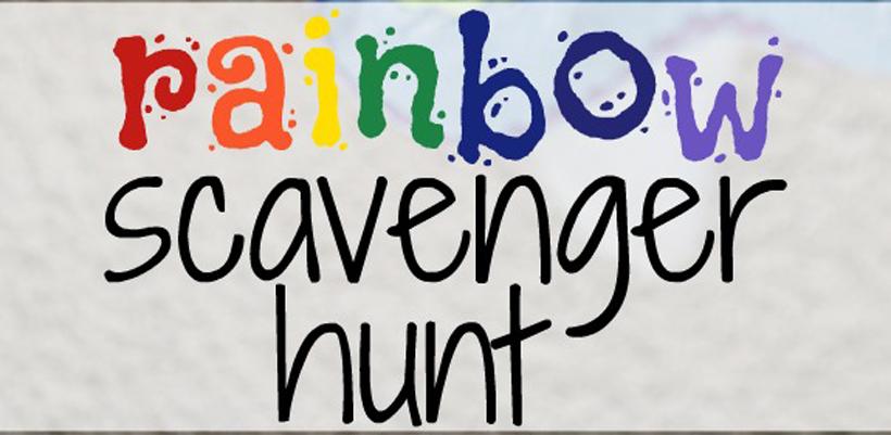 rainbow beads scavenger hunt hero