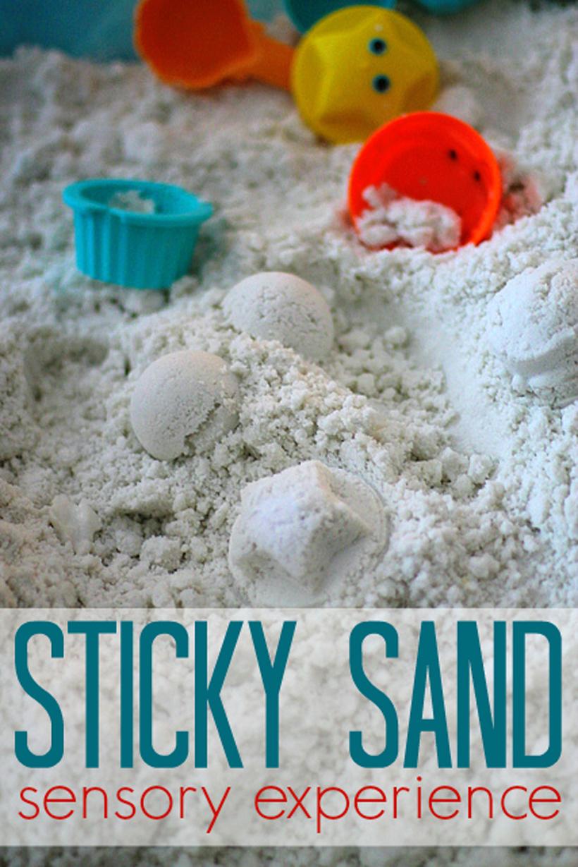 Sticky Sand Sensory Play