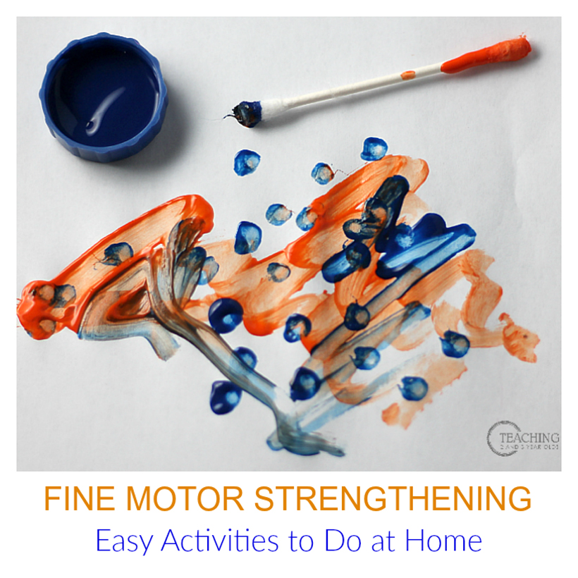 fine motor strengthening at home hero image