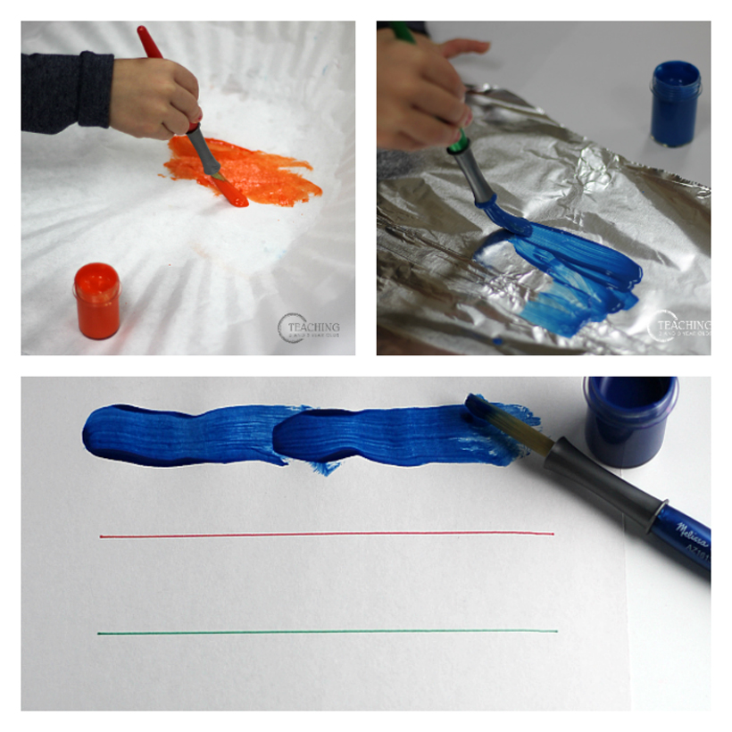 fine motor strengthening at home with washable paint 1