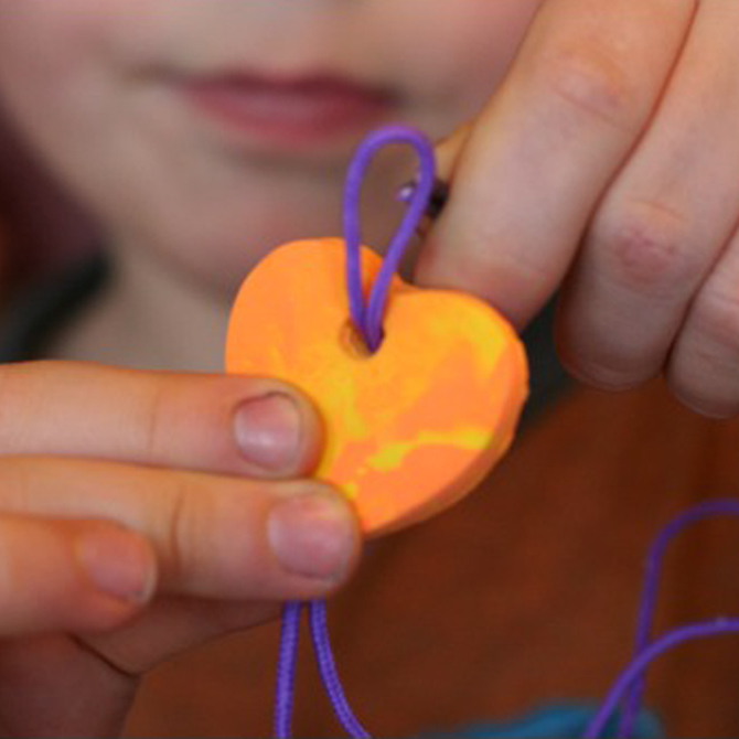 Kid Made Heart Pendants