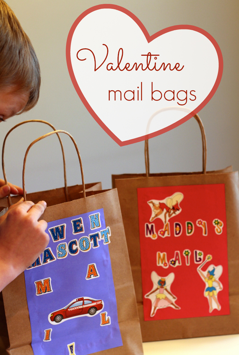 Valentine Mail Bags hero and pin