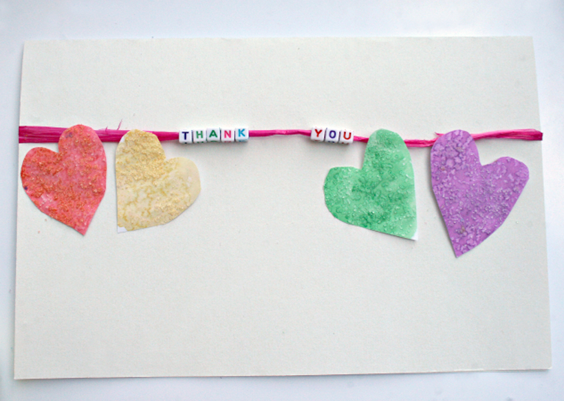 Watercolor Heart Card Craft