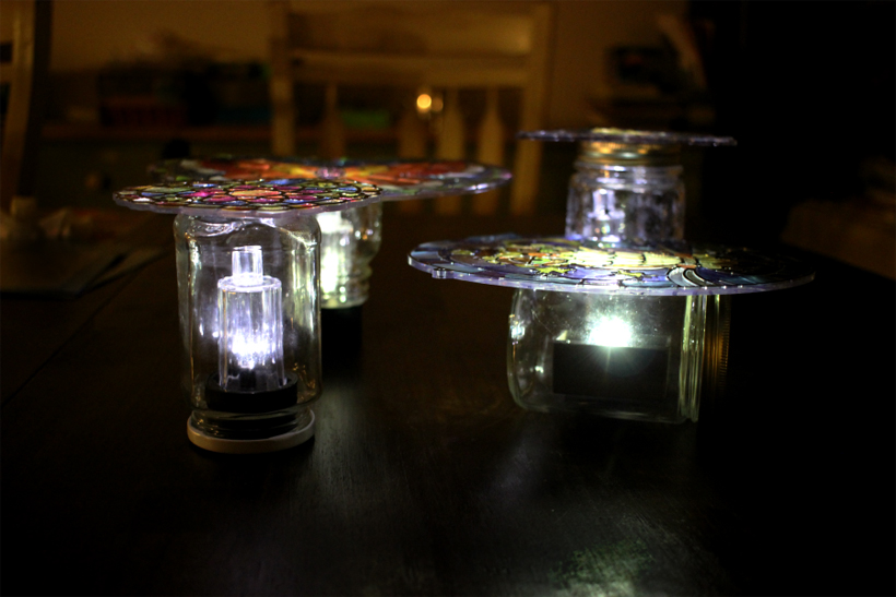 Gifts Kids Can Make Stained Glass Solar Lights